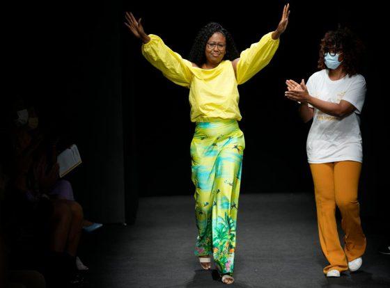 Joy Meriba at Milan Fashion Week